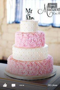 Thinking maybe this cake but coral of course :))