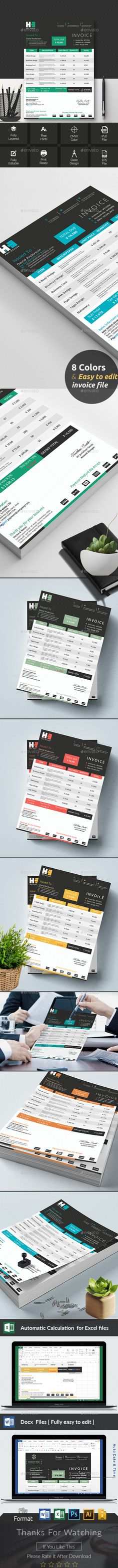 How To Make A Invoice In Excel Invoice Excel  Pinterest  Template Brand Identity And Ai Illustrator