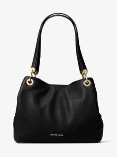 33c4084285 MICHAEL Michael Kors Raven Large Leather Shoulder Bag