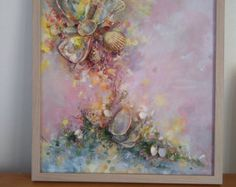 Abstrakte Malerei Signed eingerahmt Ready zum von COLORSofmyeARTh