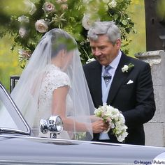 Michael Middleton and Pippa prior to her marriage to James Matthews. May 20 2017.