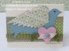 Elegant Bird Valentine with Heart for Club Card by sharonstamps - Cards and Paper Crafts at Splitcoaststampers