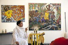 Lili Bernard Introduction to Ifá and the Orishas.  afro-cuban artist - Los Angeles  - PHOTO David Morin 2013