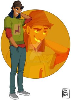 Kuzco is egocentric, arrogant, self-centered ...  He loves to be the center of attention and everything revolves around it.  Despite all this, Kuzco has a big heart and loves to help his friends  He is studying Political Science and spends his free time to go out with friends and have fun.  He has love problems. He is in love with two girls ... Malina and Chel, Chel and Malina ... who will he choose?  HATES the subject of chemistry.