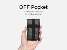 A privacy accessory for mobile phones to block all signals.