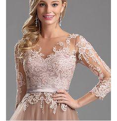 Rochii elegante crem tull dantela Nasa, Wedding Dresses, Lace Dresses, Prom, Womens Fashion, Nude Dress, Bridesmaids, Vestidos, Groomsmen