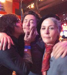 Norman Reedus, Steven Yeun, & Melissa McBride