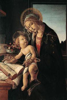Bild:  Sandro Botticelli - Maria mit dem Buch
