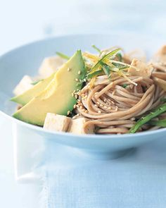 Soba noodles are made with buckwheat flour, which is an excellent source of fiber and protein.