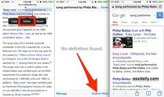 How to Search the Web for a Phrase, Word, or Terms from almost anywhere in iOS