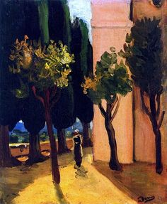 Street Scene by Andre Derain - circa 1920 André Derain, Henri Matisse, Kandinsky, Pablo Picasso, Expressionist Artists, Georges Braque, Modigliani, French Artists, Illustrations