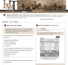 Historical Thinking Matters - Multimedia Investigations in U.S. History