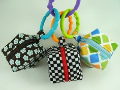 Pacifier Pouch Pattern ... Mini Zippered Cube by SundayGirlDesigns