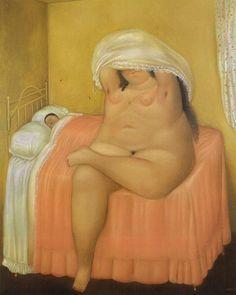 ©Fernando Botero, Les amants, 1969, Huile sur toile
