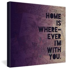 Leah Flores With You Gallery Wrapped Canvas - contemporary - prints and posters - DENY Designs