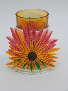 77 best quilling with a comb images on pinterest quilling comb this tealite holder is made using a quilling comb and paper cups to create beautiful floral mightylinksfo