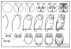 How to draw an owl. Must make some with my kiddos!!!