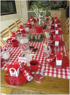Lady Bug Picnic Party Table