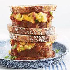Definatly the Mashed!! Ashley's Meatloaf-and-Mashed Potato Sandwiches | MyRecipes.com