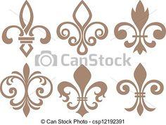 EPS Vectors of fleur de lis csp12192391 - Search Clip Art ...
