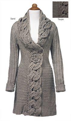 - Crochet Flower Coat