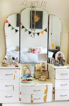 a dressing table with so much character! via designsponge