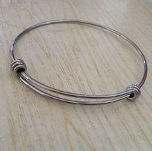 5 pc ) de 60 mm aço inoxidável expansível fio Bangle ajustável(China (Mainland))
