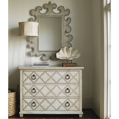 Lexington Oyster Bay 3 Drawer Lingerie Chest with Mirror
