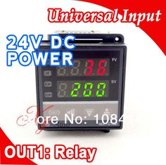 RKC Digital PID TEMPERATURE CONTROLLER REGULATOR Thermostat in 24V DC, Thermocouple K or J sensor Input, Relay Output