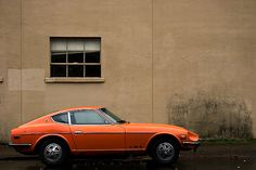 Orange Datsun 280z. this would be the ideal color
