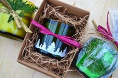 glass wine bottles can be used to make creative and beautiful glasses, storage containers, votives, and candles
