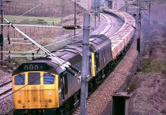 2 class 25 diesels double heading into Lichfield Trent Valley with a brickliner in 1976 British Rail, Electric Locomotive, Trains, Diesel, The Unit, Colour, Big, Pictures, Diesel Fuel