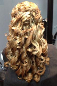 Wedding hair down :) and it is hair by Amanda!