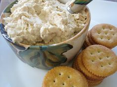 Chicken Spread .. 8-oz. cream cheese  Small onion, finely chopped  Small can (4.25-oz) canned chicken  1 T. mayonnaise  1 T. soy sauce    Blend all ingredients together with a hand mixer until creamy and combined.