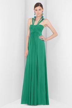 Vestido verde esmeralda pinterest
