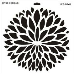 LPS0041 Mum Explosion - TSC Stencil Designs