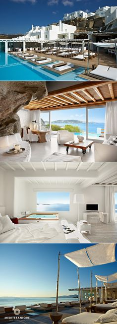Will stay 1 month in Luxury Boutique Hotels in Greece. Santorini, Mykonos and shipwreck island area Mykonos Hotels, Santorini Greece Hotels, Best Hotels In Greece, Boutique Hotels, Boutique Hotel Mykonos, Terrazas Chill Out, Cavo Tagoo Mykonos, Tolle Hotels, Myconos