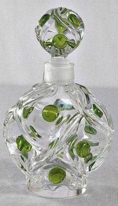 """Lalique """"Floride"""" Pattern Perfume Bottle"""