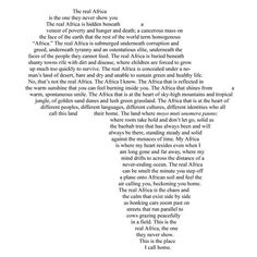 Happy AFRICA DAY to all our continent's inhabitants!This is the REAL Africa. The one so many people will never come to know. I absolutely love this.