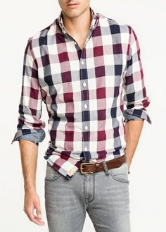 Camisa slim-fit cuadros