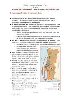 História e Geografia de Portugal – 6º ano Resumo 2015/2016 Professor Carlos Baptista A REVOLUÇÃO FRANCESA DE 1789 E SEUS R...