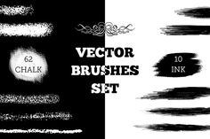 Vector chalk and ink brushes by kateja on Creative Market