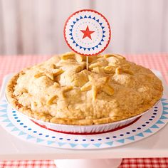 The secret to a perfect apple pie? Pink Lady apples! Our easy apple pie recipe combines Pink Lady apples and cinnamon applesauce under a star-spangled top.