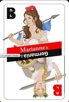 """Ausstellung / Exposition à Paris  """"Marianne et Germania dans la Caricature"""""""