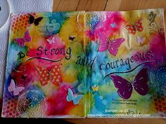 mixed media art journal DIY ink sprays