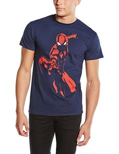 Marvel Ultimate Spiderman Spidey Shadow - Camiseta manga corta para hombre, color azul marino, talla M #camiseta #friki #moda #regalo