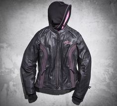 Inspired by courage and dedicated to those affected by breast cancer, our Pink Label Collection symbolizes strength and a passion for a cure. A portion of every sale is donated to organizations that support breast cancer patients and their families. Wear your dedication on the road with the Pink Label 3-in-1 Leather Jacket. | Harley-Davidson Women's #PinkLabel 3-in-1 Leather Jacket