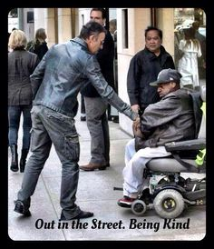 Bruce Springsteen doesn't just sing about compassion, he lives it.