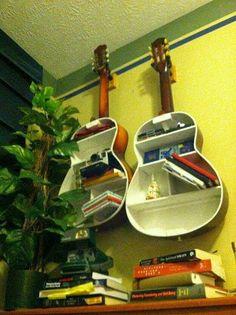 Guitar Shape Book Shelf