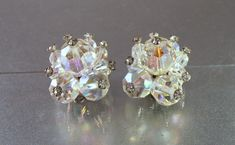 Crystal Earrings with Rhinestone Tips Aurora by LynnHislopJewels